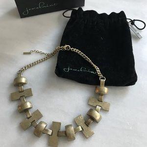 Jewelmint Astoria statement necklace brass gold